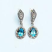 Украшения handmade. Livemaster - original item Silver earrings with Topaz Ladies ` whim. Handmade.