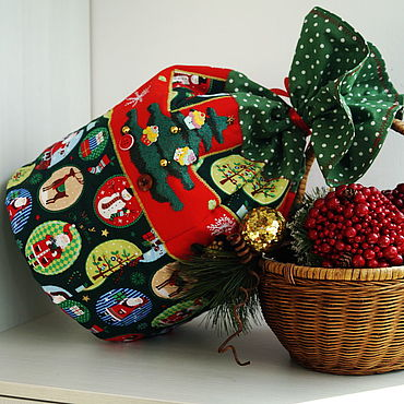 "Мешок для новогодних подарков ""Ёлки"""