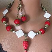 handmade. Livemaster - original item kit: Necklace and earrings