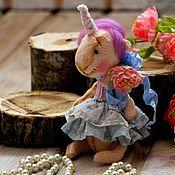 Мягкие игрушки ручной работы. Ярмарка Мастеров - ручная работа Единорожек тедди. Handmade.