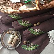 Для дома и интерьера ручной работы. Ярмарка Мастеров - ручная работа Салфетка Ланчмат с вышивкой - сервиз Царская охота Чехословакия. Handmade.