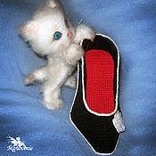Куклы и игрушки ручной работы. Ярмарка Мастеров - ручная работа Котенок в туфле. Handmade.