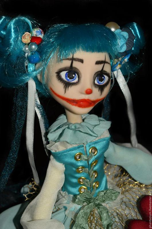 Коллекционные куклы ручной работы. Ярмарка Мастеров - ручная работа. Купить Арлекино под маской Мальвины. Handmade. Голубой, фантазиум