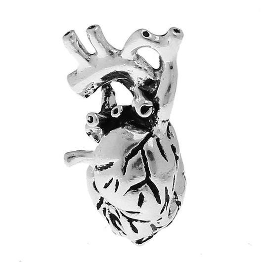 Для украшений ручной работы. Ярмарка Мастеров - ручная работа. Купить Сердце. Handmade. Серебряный, фурнитура для украшений, подвеска для украшений
