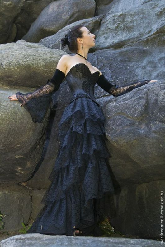 Платья ручной работы. Ярмарка Мастеров - ручная работа. Купить Платье Queen of the Damned. Handmade. Черный