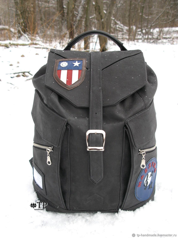 "Men""s leather backpack «Aviator», Men\\\'s backpack, St. Petersburg,  Фото №1"