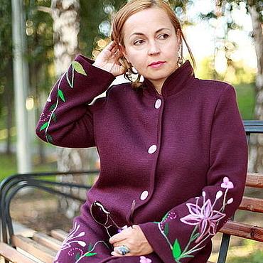 """Одежда ручной работы. Ярмарка Мастеров - ручная работа Вязаное пальто """"Нежные лилии"""". Handmade."""