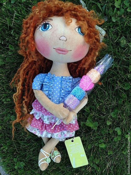 Куклы тыквоголовки ручной работы. Ярмарка Мастеров - ручная работа. Купить Кукла-тыквоголовка Барышня Анюта. Handmade. Бежевый, Рыжая