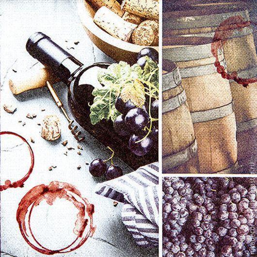 Декупаж и роспись ручной работы. Ярмарка Мастеров - ручная работа. Купить Красное вино (211626) - салфетка для декупажа. Handmade. Разноцветный