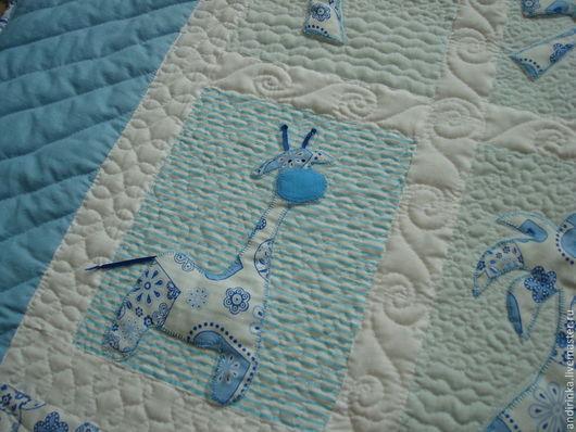 """Пледы и одеяла ручной работы. Ярмарка Мастеров - ручная работа. Купить Детское лоскутное одеяло """"Далёко,далёко,на озере Чад...."""". Handmade."""