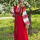 """Одежда ручной работы. Ярмарка Мастеров - ручная работа. Купить Платье """"Этно"""" красное, вариант 3. Handmade. Этно"""