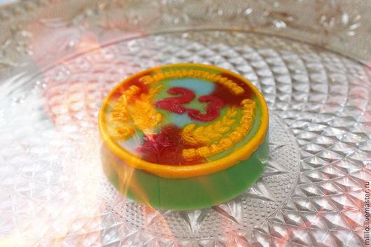 Мыло ручной работы. Ярмарка Мастеров - ручная работа. Купить мыло к 23 февраля. Handmade. Разноцветный, мыло в подарок