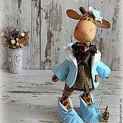 """Куклы и игрушки ручной работы. Ярмарка Мастеров - ручная работа Жирафа """"Шоколад и бирюза"""". Handmade."""
