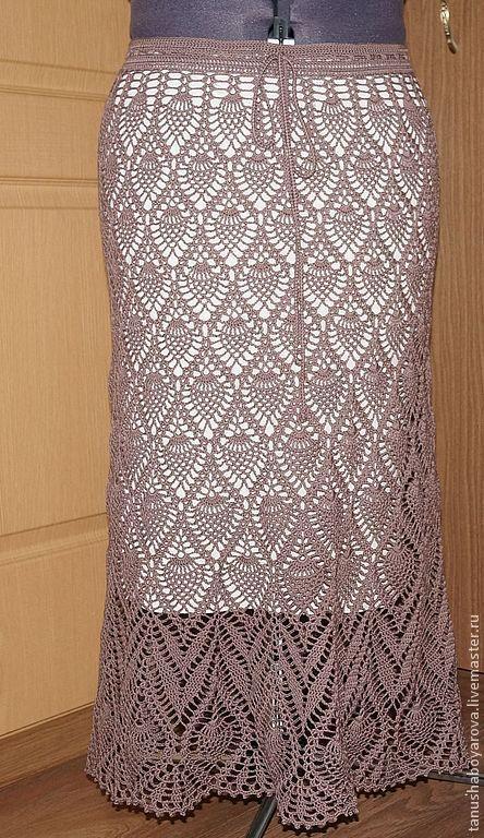 """Юбки ручной работы. Ярмарка Мастеров - ручная работа. Купить Вязаная юбка """" Молочный шоколад"""". Handmade. Юбка"""