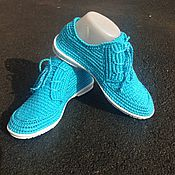 Обувь ручной работы. Ярмарка Мастеров - ручная работа Мокасины вязаные. Handmade.