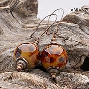 Украшения handmade. Livemaster - original item Parade of the planets - long earrings beads silver glass lampwork. Handmade.