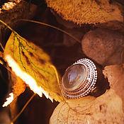 """Украшения ручной работы. Ярмарка Мастеров - ручная работа Серебряное кольцо с пренитом """"Заросли Полыни"""". Handmade."""