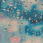 Украшения ручной работы. Ярмарка Мастеров - ручная работа Прозрачные Серьги Окно Дождь Капли на Стекле Лед Снег Холод. Handmade.