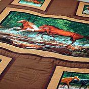 """Для дома и интерьера ручной работы. Ярмарка Мастеров - ручная работа Плед-покрывало """"Кони"""". Handmade."""