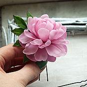 Украшения handmade. Livemaster - original item A set of pins Pink peony. Handmade.
