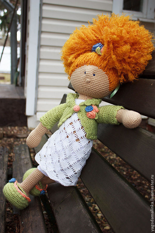 Человечки ручной работы. Ярмарка Мастеров - ручная работа. Купить Кукла вязаная Лили. Handmade. Салатовый, подарок на день рождения