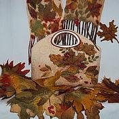 """Сумки и аксессуары ручной работы. Ярмарка Мастеров - ручная работа Комплект """"Подружка Осень"""" и шарф """"Бостон"""". Handmade."""