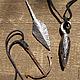 Кулоны, подвески ручной работы. Ярмарка Мастеров - ручная работа. Купить Кованые кулоны. Handmade. Медь, темно-серый, стрела