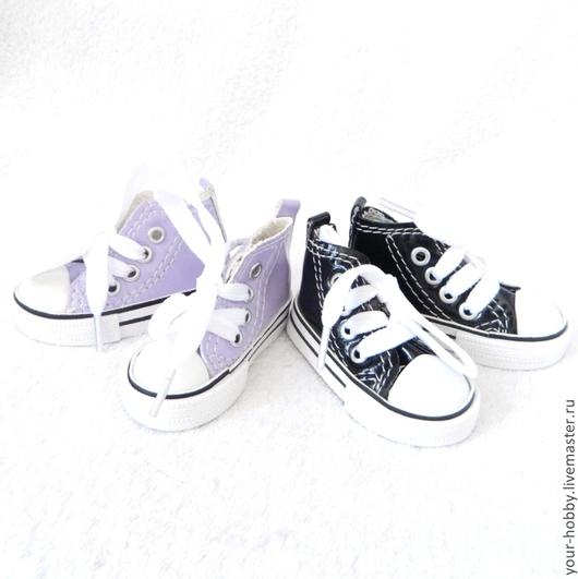 Куклы и игрушки ручной работы. Ярмарка Мастеров - ручная работа. Купить Кеды лакированные, 7,5см. Обувь для кукол.. Handmade.