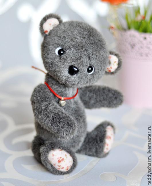Мишки Тедди ручной работы. Ярмарка Мастеров - ручная работа. Купить Мишка Питер. Handmade. Серый, handmade, стеклянные глазки