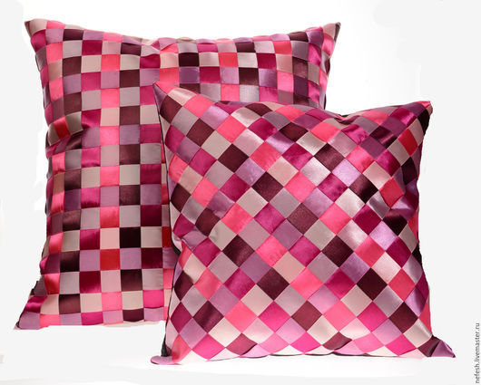 Текстиль, ковры ручной работы. Ярмарка Мастеров - ручная работа. Купить Декоративная подушка Интерьерная подушка Розовый купить в подарок. Handmade.