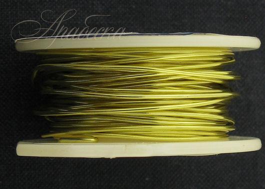 Проволока медная 0.81мм (20ga) цвета шампанское золото BEADSMITH (США)