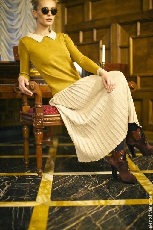 Платья ручной работы. Ярмарка Мастеров - ручная работа. Купить Платье с плиссе. Handmade. Желтый, Платье нарядное, платье на заказ