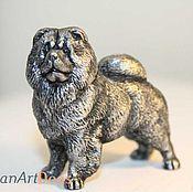 Для дома и интерьера ручной работы. Ярмарка Мастеров - ручная работа ЧАУ-ЧАУ - статуэтка (оловянная миниатюрная фигурка собаки). Handmade.