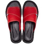 Тапочки ручной работы. Ярмарка Мастеров - ручная работа Домашняя обувь из натуральной кожи. Handmade.
