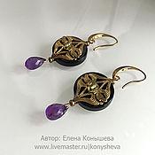 Украшения handmade. Livemaster - original item Earrings made of natural stones. Earrings in Art nouveau style.. Handmade.