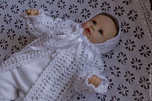 """Для новорожденных, ручной работы. Ярмарка Мастеров - ручная работа. Купить Комплект на выписку для новорожденного """"крошечка"""". Handmade. Белый"""