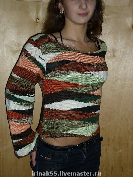 Sweatshirts & Sweaters handmade. Livemaster - handmade. Buy jacket 'Autumn'.Handmade, machine knitting, jumper, womens clothing knitted