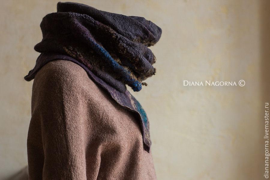 Warm scarf made from Merino wool, Scarves handmade, Kharkiv, Фото №1