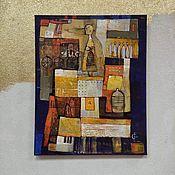 Картины и панно handmade. Livemaster - original item Modern abstract painting for living room vertical. Handmade.