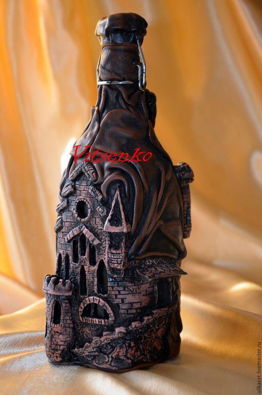 Подарки для мужчин, ручной работы. Ярмарка Мастеров - ручная работа. Купить Старый замок. Handmade. Подарок для мужчины, Декоративная бутылка