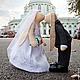 Куклы Тильды ручной работы. Свадебные зайцы. Юлия Симонова. Интернет-магазин Ярмарка Мастеров. Свадебные зайцы, интерьерная кукла