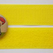 Ленты ручной работы. Ярмарка Мастеров - ручная работа Лента контактная велькро (липучка) жёлтая. Handmade.