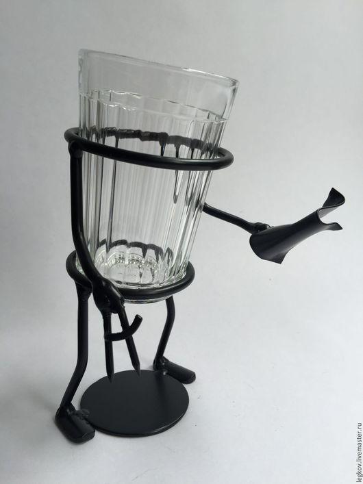 """Бокалы, стаканы ручной работы. Ярмарка Мастеров - ручная работа. Купить Подстаканник """"Инженер"""". Handmade. Черный, стакан, подстаканник, для карандашей"""