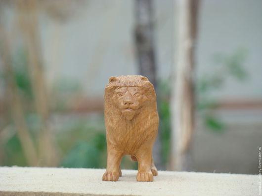 Игрушки животные, ручной работы. Ярмарка Мастеров - ручная работа. Купить Лев. Handmade. Бежевый, фигурки животных, масло