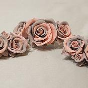 Украшения ручной работы. Ярмарка Мастеров - ручная работа Розово-серый мотив.... Handmade.