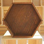 Аксессуары ручной работы. Ярмарка Мастеров - ручная работа Декоративный ящик в  форме шестигранника. Handmade.
