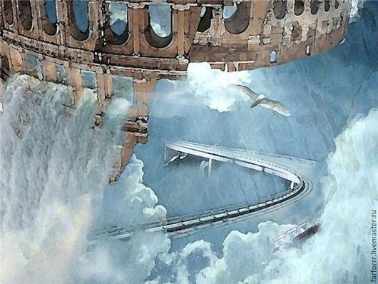 Фотокартины ручной работы. Ярмарка Мастеров - ручная работа. Купить Фотокартина. Полёт... Handmade. Голубой, полет, небо, небо облака