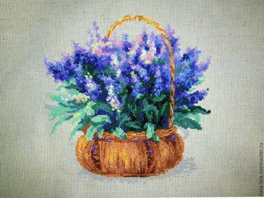 Картины цветов ручной работы. Ярмарка Мастеров - ручная работа. Купить Французская лаванда. Handmade. Разноцветный, подарок подруге