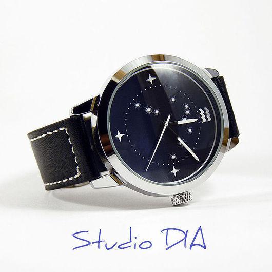 Дизайнерские Часы Знак Зодиака Водолей. Студия Дизайнерских Часов DIA.