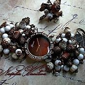 """Украшения ручной работы. Ярмарка Мастеров - ручная работа Часы-браслет """"Медь"""" + кольцо. Handmade."""